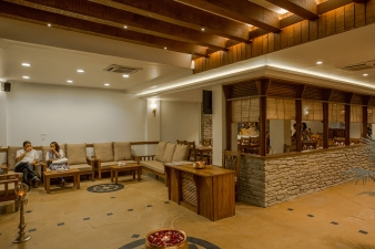 Lounge with restaurant